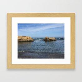 Fort Bragg ocean with rocks Framed Art Print