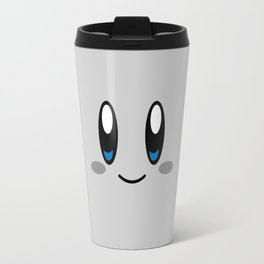 Kirby Face (Gray) Travel Mug