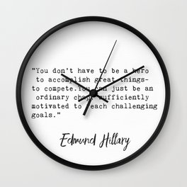 Edmund Hillary q2 Wall Clock