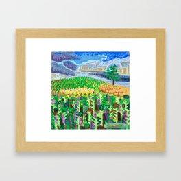 Tree on a Hill Framed Art Print
