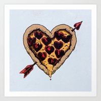 Pizza Love Art Print