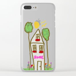 Happy Home Clear iPhone Case