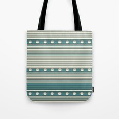 Grey and Blue Tote Bag