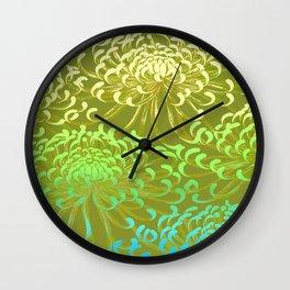 floral mums Wall Clock