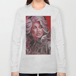 Dolly Parton in Pink Long Sleeve T-shirt