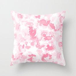 Abstract Flora Millennial Pink Throw Pillow