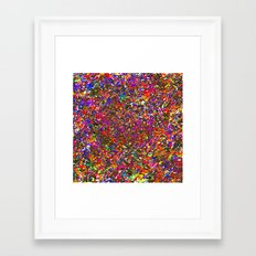 Rainbow Stained Glass Prism Kaleidoscope Potpourri Confetti Piñata Fireworks Framed Art Print