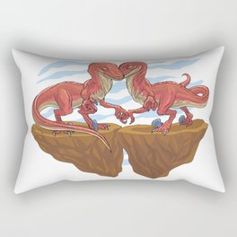 Velociraptor Love Rectangular Pillow