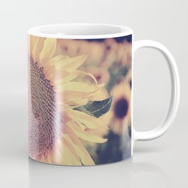 """Sunflowers"" Vintage dreams. Square Coffee Mug"