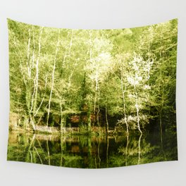 A house in the lake Wall Tapestry