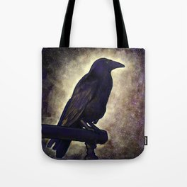 Black Raven of Peace Tote Bag