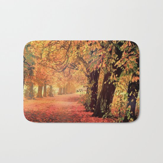 Autumn - the leaves are falling Bath Mat