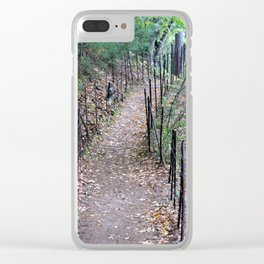 Walden Pond Trail 3 Clear iPhone Case