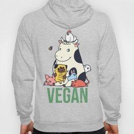 Pug and Friends Vegan Hoody