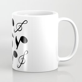 Simple Collage Of Music Notes Coffee Mug
