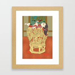 Wu Zetian: The mutilated concubines in a wine vat Framed Art Print