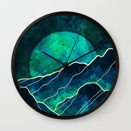 As a new moon rises Wall Clock