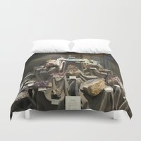 minerals Duvet Covers featuring Don't Touch the Minerals by kindercore