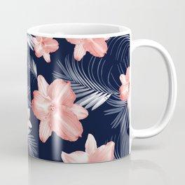 Tropical Flowers Palm Leaves Finesse #6 #tropical #decor #art #society6 Coffee Mug
