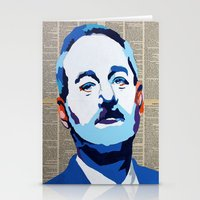murray Stationery Cards featuring Bill Murray by VenusArtist