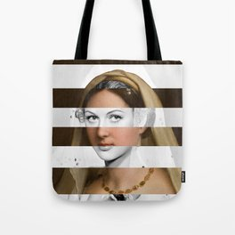 Raphael's Woman with a Veil & Hedy Lamarr Tote Bag