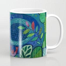 Bird by the Pond Coffee Mug