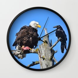 Avian Showdown Wall Clock