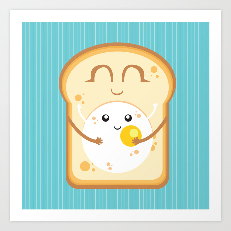 childrens food graphic design and illustration art prints society6