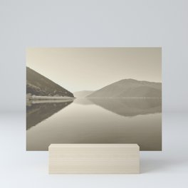 Minimal Monochrome Landscape Reflections Mini Art Print