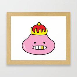 Fake Slime King Framed Art Print