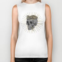 stay gold Biker Tanks featuring stay gold by Laura Graves