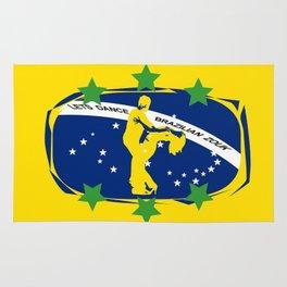 lets dance brazilian zouk flag design Rug