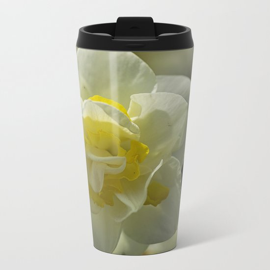 Daffodil sunshine Metal Travel Mug
