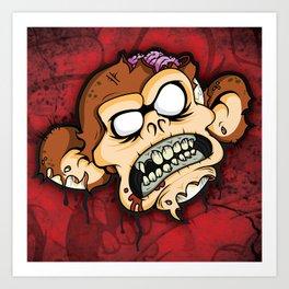 Necro Monkey print Art Print