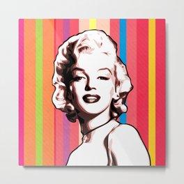Marilyn - Pop Art - Monroe Metal Print