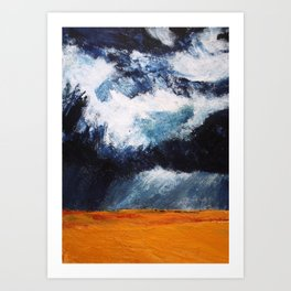 Storm Clouds Over Illinois Wheat Fields Acrylic On Canvas Art Print