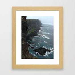 LatraBjarg cliff Framed Art Print