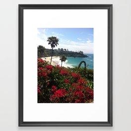 Three Arch Beach Framed Art Print