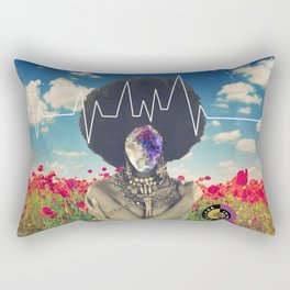 Afro Heartbeat Rectangular Pillow