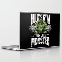 gym Laptop & iPad Skins featuring Hulk's Gym by Corey Courts