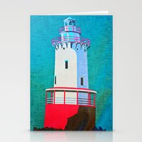 lighthouse Stationery Cards featuring Lighthouse by Judy Palkimas