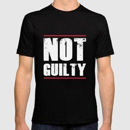 Not Guilty TShirt Distressed Prisoner Jail Inmate Prison Tee T-shirt