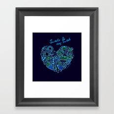 Heartfilled Framed Art Print