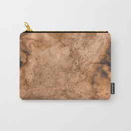 Acrylic Coffee Stained Paper Carry-All Pouch