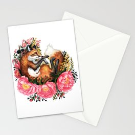 Flora and Fauna Fox Stationery Cards