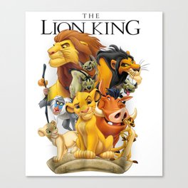 Lion King Pride Land Characters Graphic Canvas Print