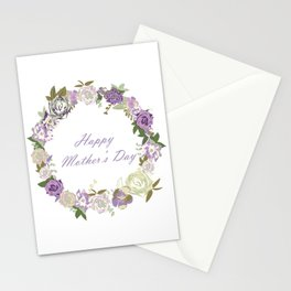 dark velvet roses happy mothers day Stationery Cards
