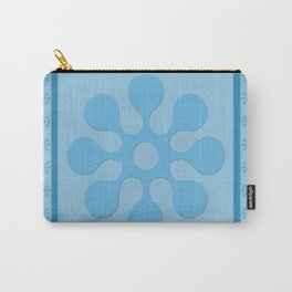 Blue Flower Block Carry-All Pouch