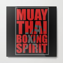 Thai Boxes Metal Print