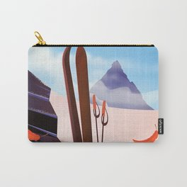 Auli, Uttarakhand, indian travel poster, Carry-All Pouch